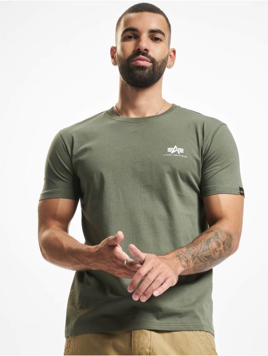 Alpha Industries T-Shirty Basic Small Logo oliwkowy