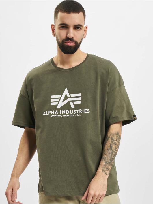 Alpha Industries T-Shirty Basic OS Heavy oliwkowy