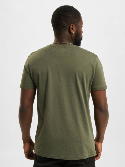 Alpha Industries T-Shirty Label Foil Print oliwkowy