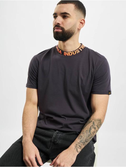 Alpha Industries T-Shirty Neck Print szary