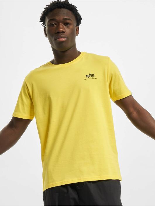 Alpha Industries T-Shirty Basic Small Logo zólty