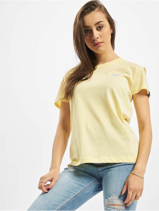 Alpha Industries T-skjorter Basic Small Logo gul
