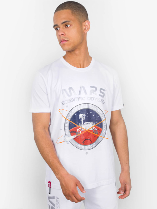 Alpha Industries T-skjorter Mission To Mars hvit