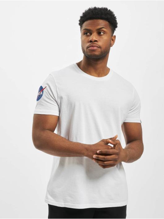 Alpha Industries T-skjorter Nasa hvit