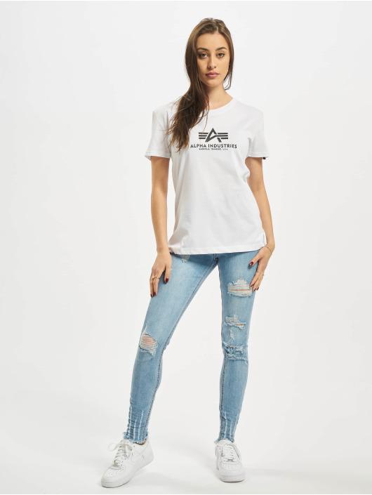 Alpha Industries T-skjorter New Basic hvit