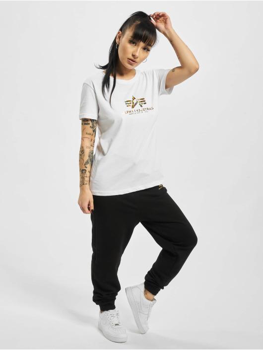 Alpha Industries T-skjorter New Basic Hol. Print hvit