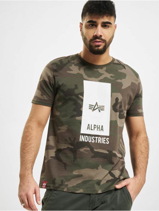 Alpha Industries T-skjorter Block Logo kamuflasje