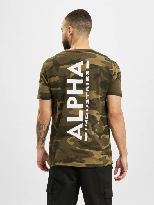 Alpha Industries T-skjorter Backprint  Camo kamuflasje