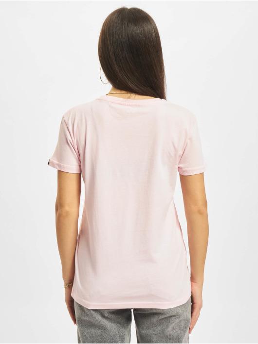 Alpha Industries T-skjorter Basic Small Logo lyserosa