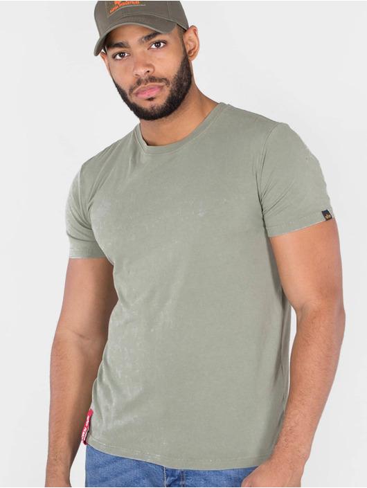Alpha Industries T-skjorter Blood Chit T oliven