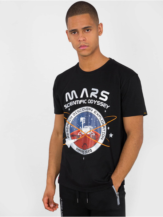 Alpha Industries T-skjorter Mission To Mars svart