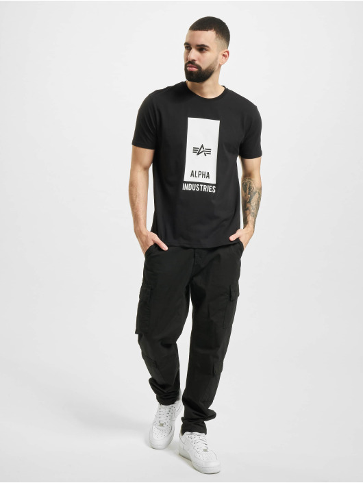 Alpha Industries T-skjorter Block Logo T svart