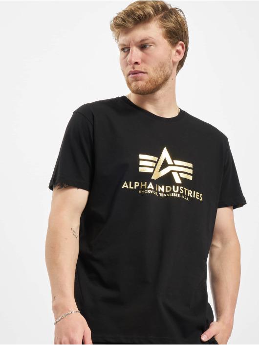 Alpha Industries T-skjorter Basic Foil Print svart