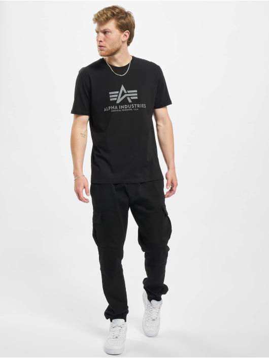 Alpha Industries T-skjorter Basic Reflective Prin svart