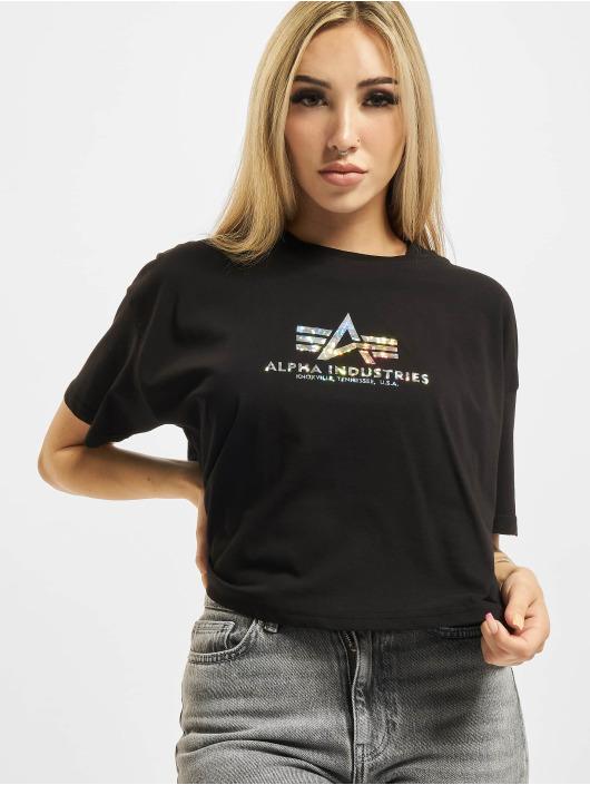 Alpha Industries T-skjorter Basic Print svart