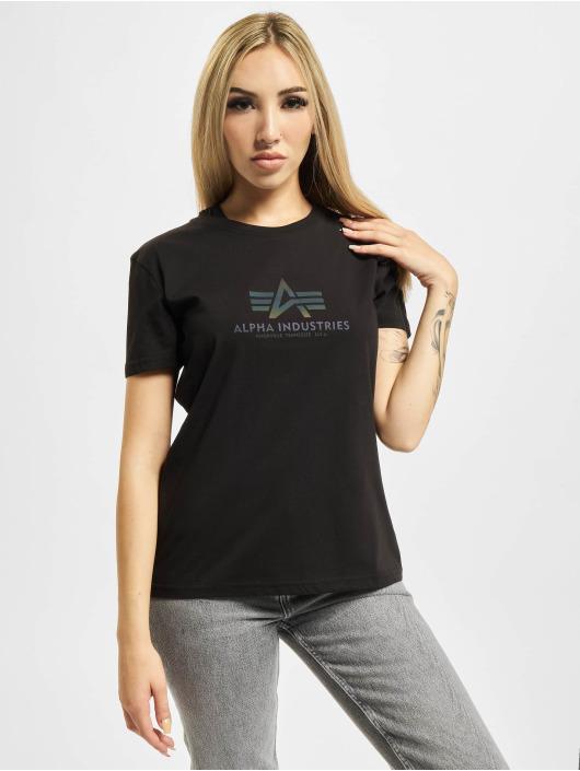 Alpha Industries T-skjorter New Basic Rainbow Print svart