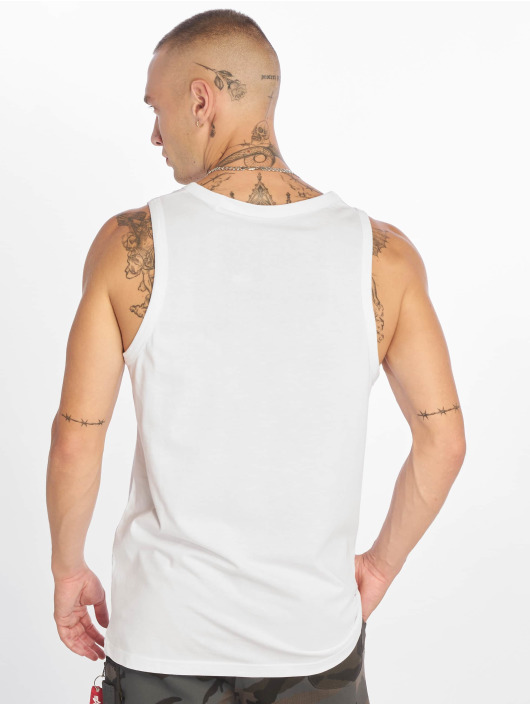 Alpha Industries Tank Tops Small Logo bialy