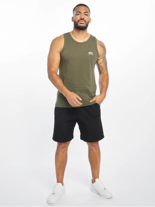 Alpha Industries Tank Tops Small Logo olive