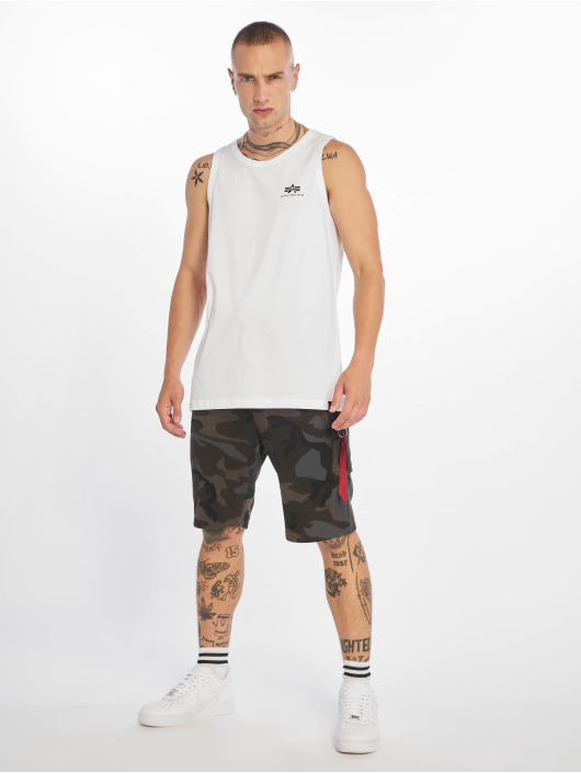 Alpha Industries Tank Tops Small Logo weiß