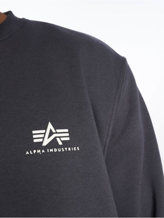 Alpha Industries Trøjer Basic Small Logo blå