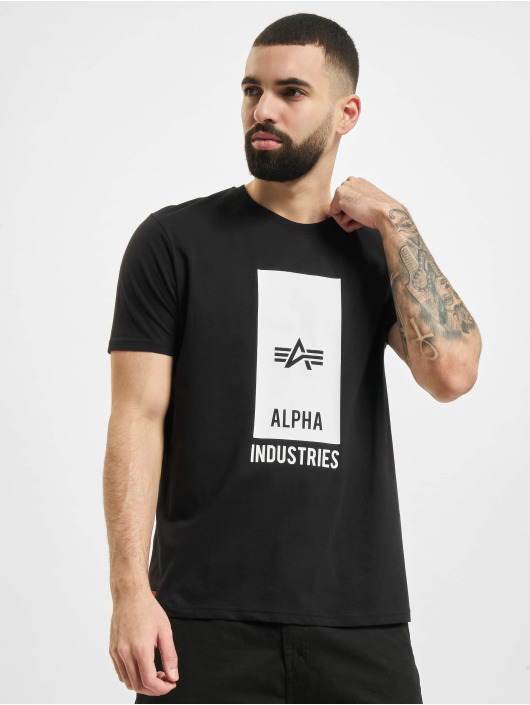 Alpha Industries Tričká Block Logo T èierna