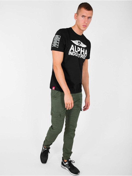 Alpha Industries Tričká Rebel T èierna
