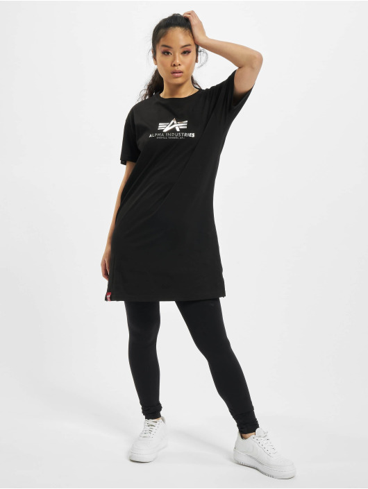 Alpha Industries Tričká Basic T Long Foil Print èierna