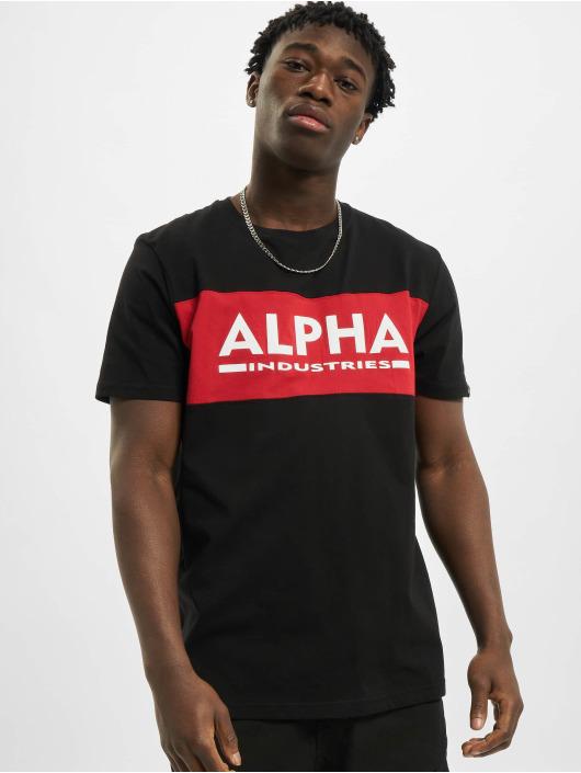 Alpha Industries Tričká Alpha Inlay èierna