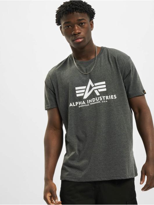 Alpha Industries Tričká Basic šedá