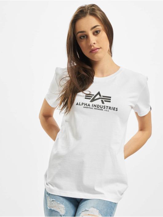 Alpha Industries Tričká New Basic biela