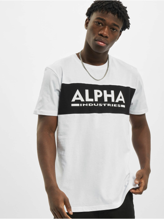 Alpha Industries Tričká Alpha Inlay biela