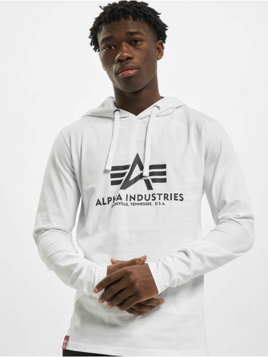 Alpha Industries Tričká dlhý rukáv Basic biela