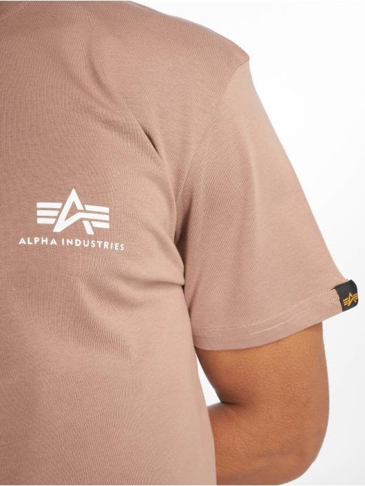 Alpha Industries Tričká Basic Small Logo hnedá