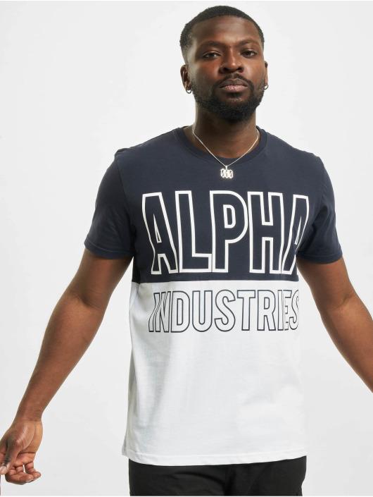 Alpha Industries Tričká Block modrá