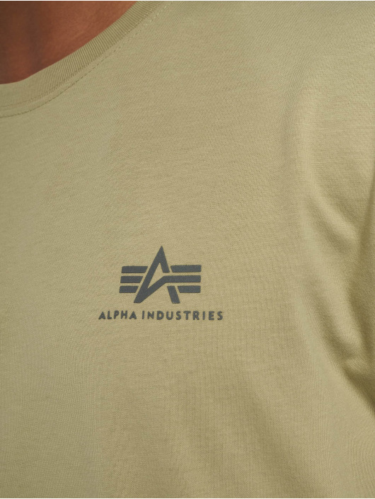Alpha Industries Tričká Basic Small Logo olivová