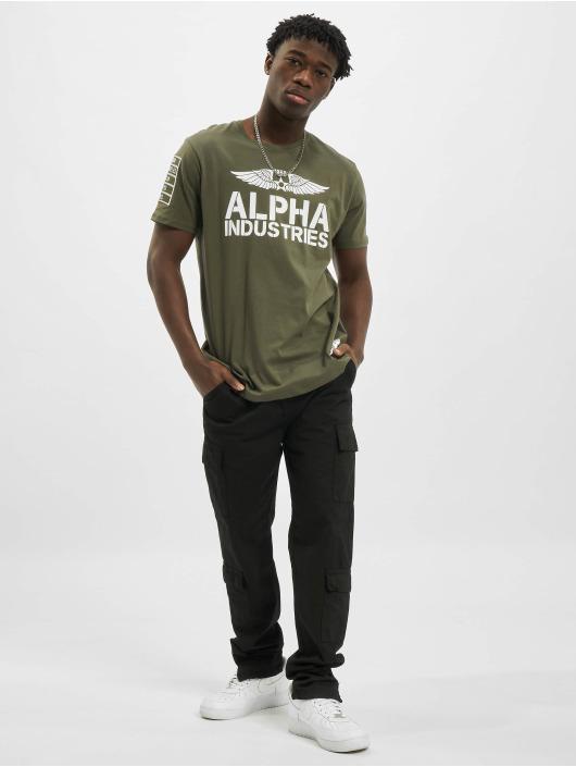 Alpha Industries Tričká Rebel olivová