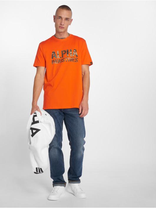 Alpha Industries Tričká Camo Print oranžová