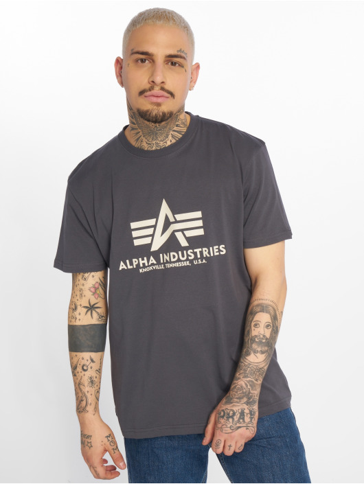 Alpha Industries Trika Basic šedá