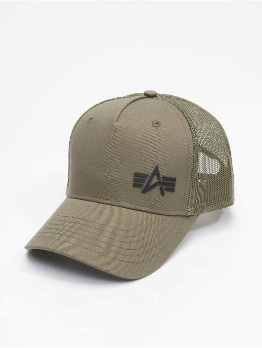 Alpha Industries trucker cap Small Logo groen