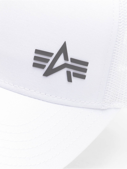 Alpha Industries Trucker Caps Small Logo bialy
