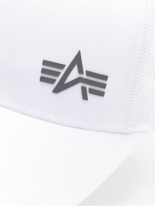 Alpha Industries Trucker Caps Small Logo hvid