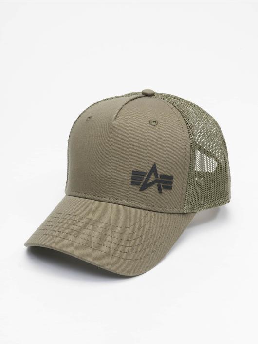 Alpha Industries Trucker Caps Small Logo zielony