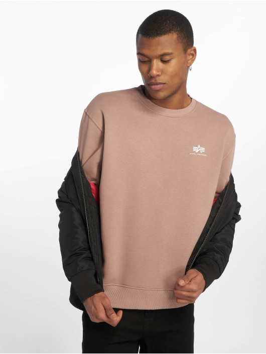 Alpha Industries trui Basic Small Logo paars
