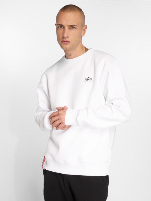 Alpha Industries trui Basic Small Logo wit