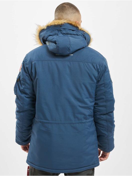 Alpha Industries winterjas Polar blauw