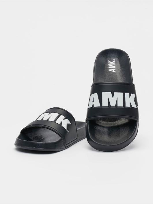 AMK Badesko/sandaler Logo svart
