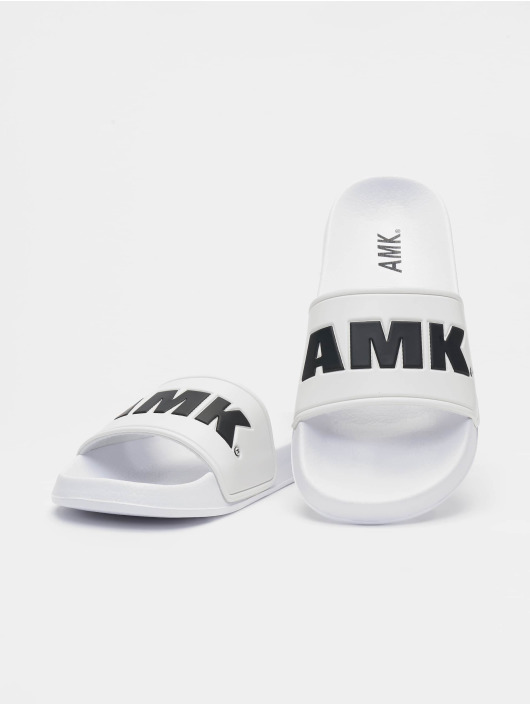 AMK Slipper/Sandaal Logo wit