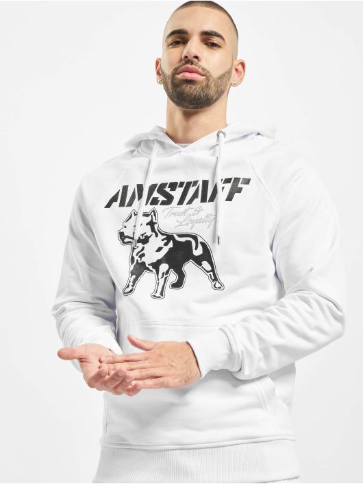 Amstaff Felpa con cappuccio Logo 2.0 bianco