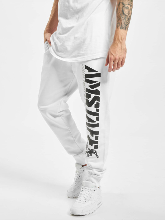 Amstaff joggingbroek Logo 2.0 wit