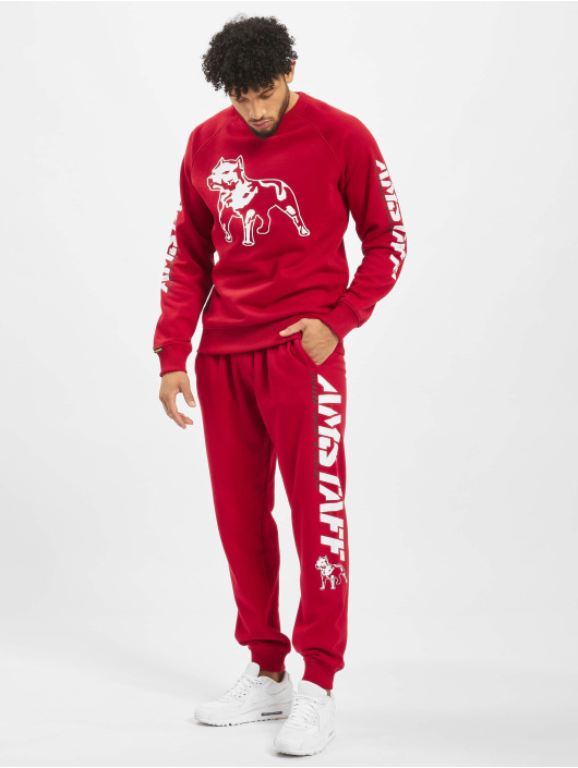 Amstaff Pantalone ginnico Logo 2.0 rosso